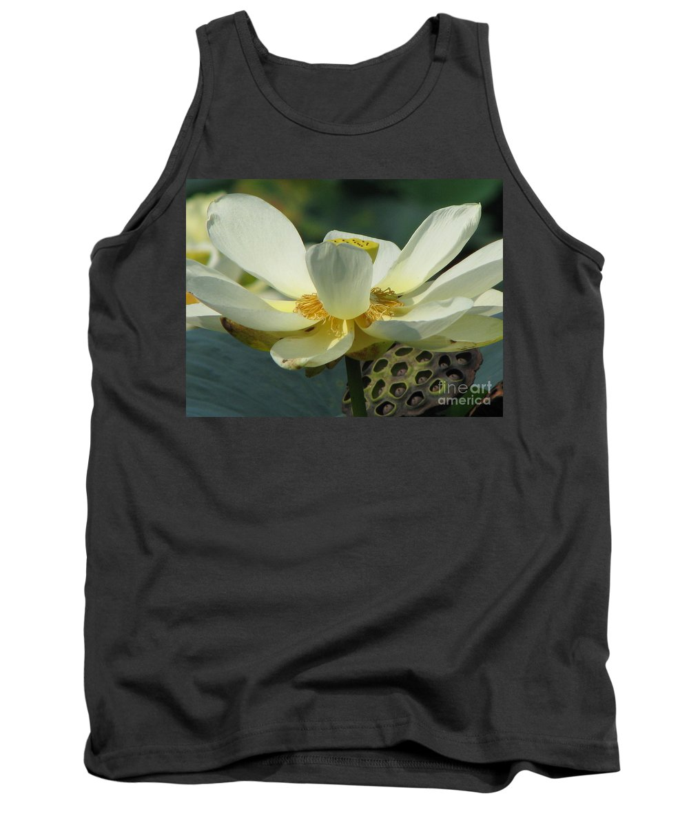 Lotus Tank Top featuring the photograph Calm by Amanda Barcon