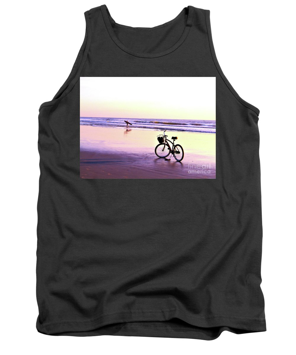 Beach Tank Top featuring the photograph Calm by Judy Bugg Malinowski