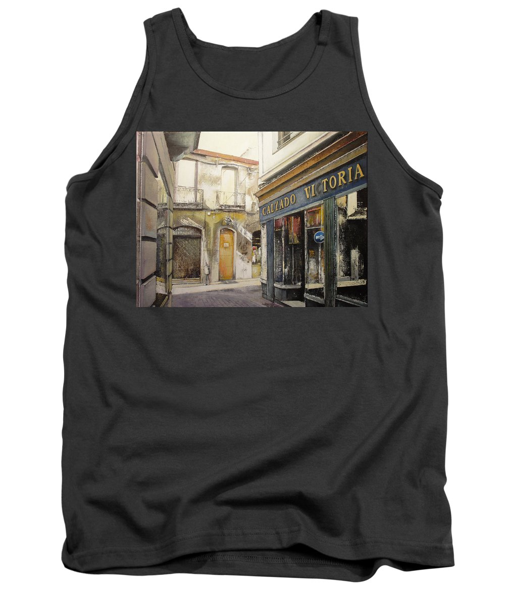 Calzados Tank Top featuring the painting Calzados Victoria-leon by Tomas Castano