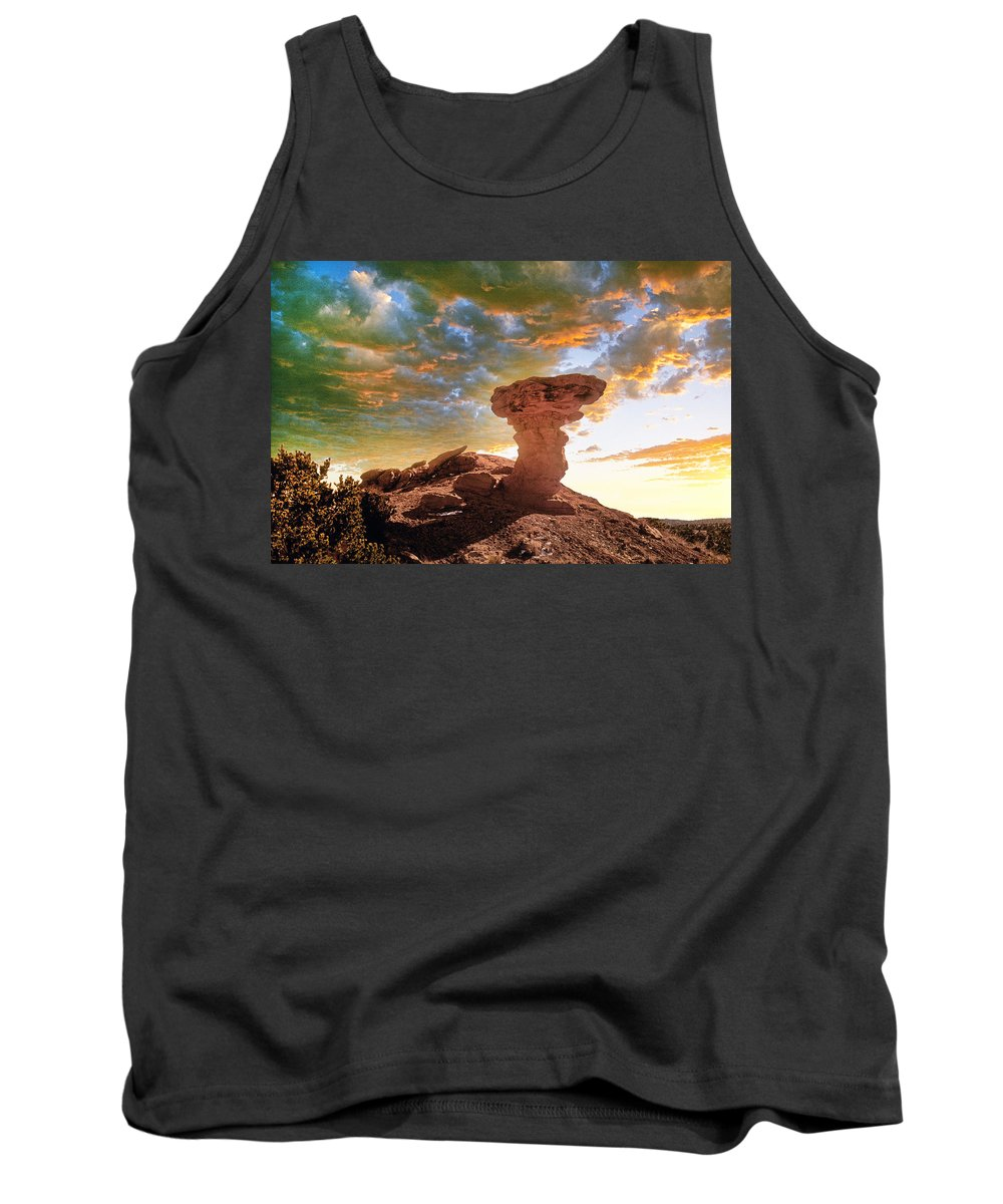 Santa Fe Tank Top featuring the photograph Camel Rock by Buddy Mays
