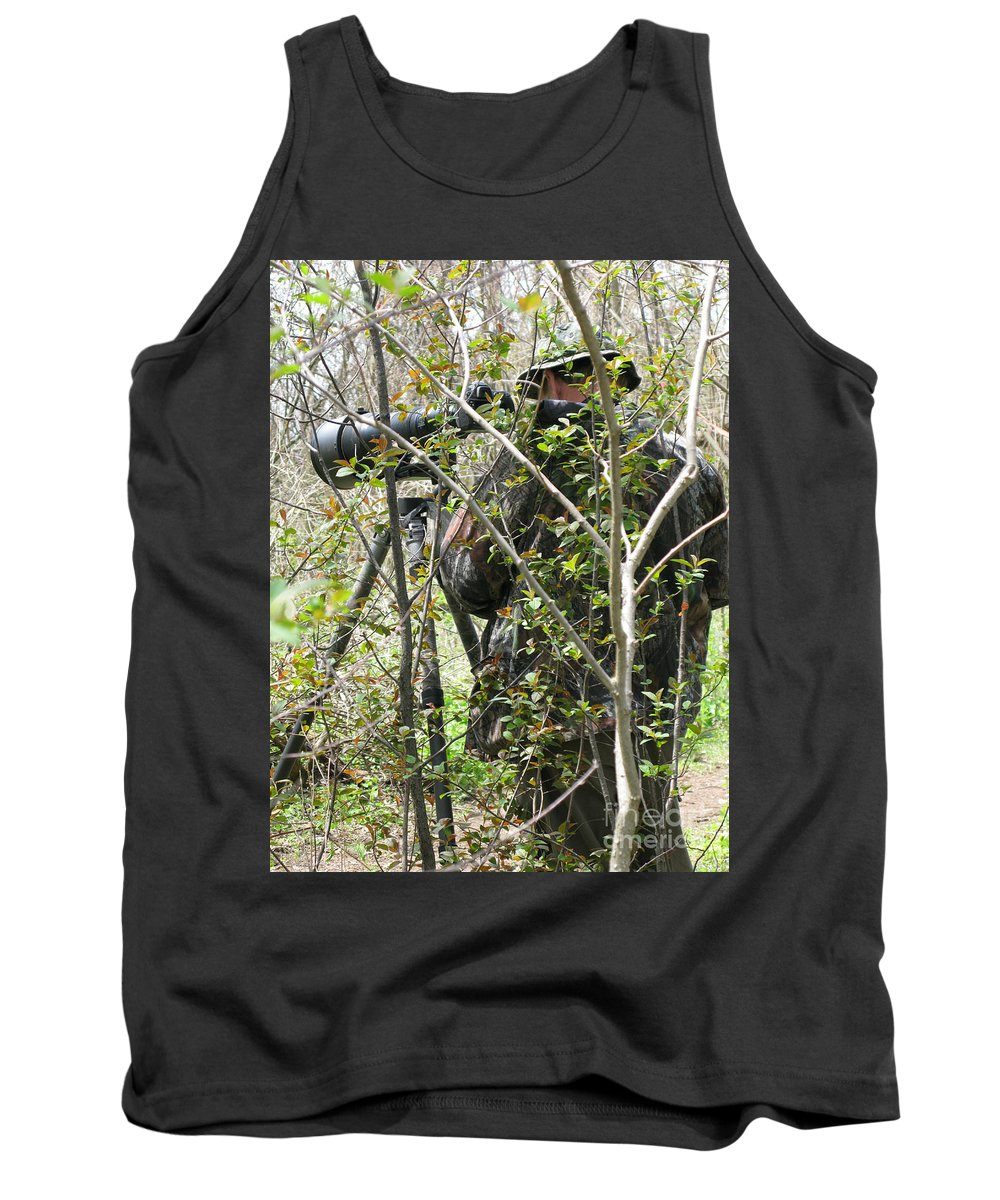 Photographer Tank Top featuring the photograph Camouflage by Ann Horn