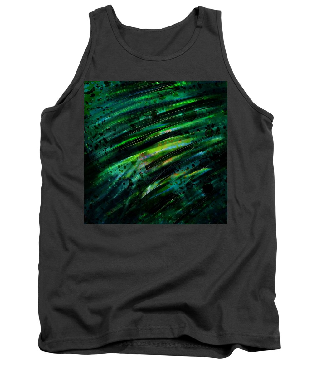 Abstract Tank Top featuring the digital art Can You Hear Voices by Rachel Christine Nowicki