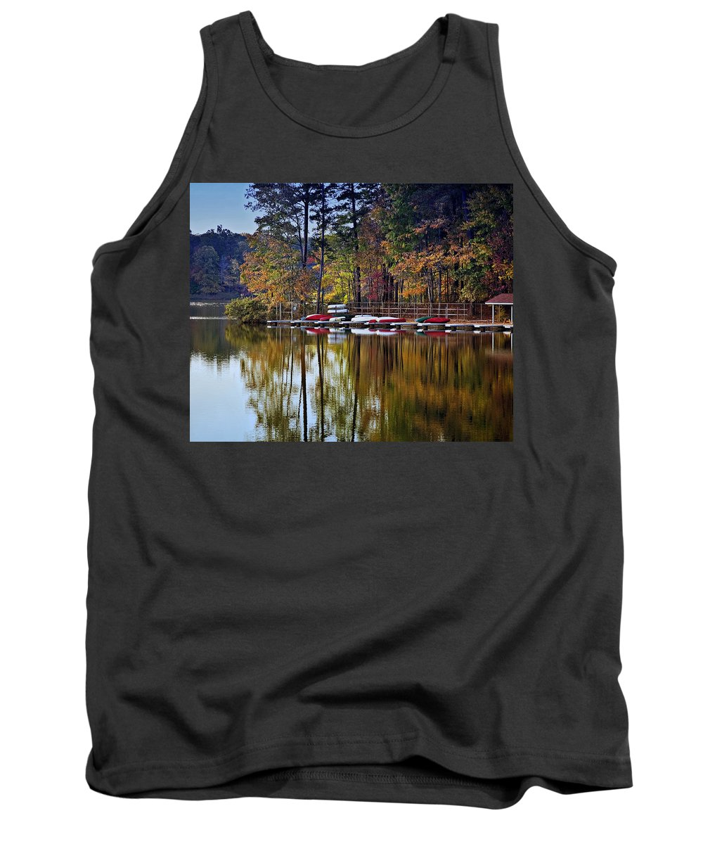 Lake Tank Top featuring the photograph Canoe Lake by Gary Adkins