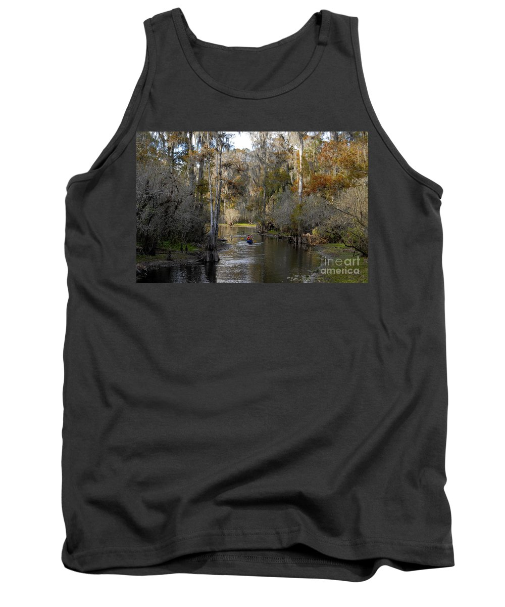 Family Tank Top featuring the photograph Canoeing In Florida by David Lee Thompson