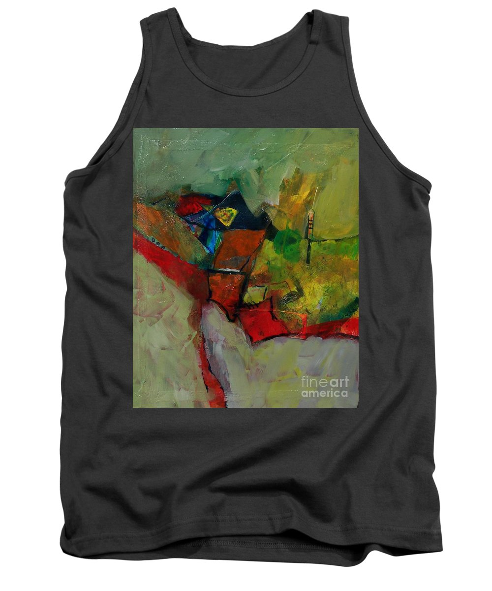 Abstract Expressionism Tank Top featuring the painting Canyon Gems by Donna Frost