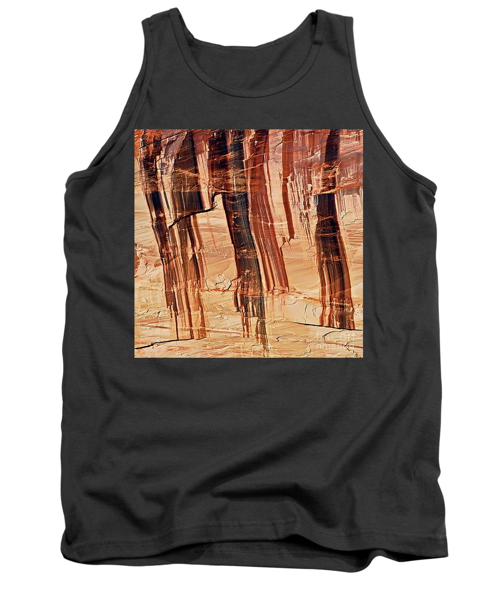 Digital Color Photo Tank Top featuring the photograph Canyon Textile Design by Tim Richards