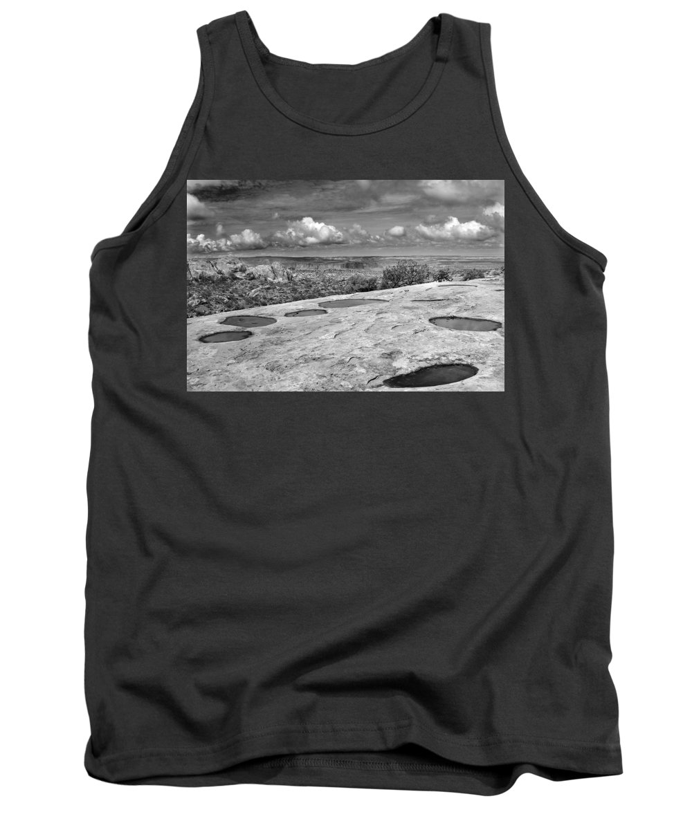 Americana Tank Top featuring the photograph Canyonlands Puddles by Marilyn Hunt