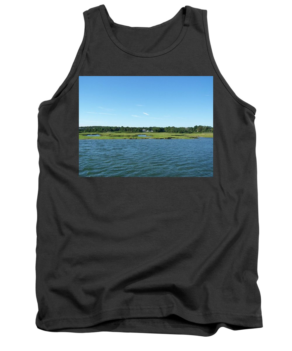 Bay Tank Top featuring the photograph Cape Cod Bay 1 by Erin Rosenblum