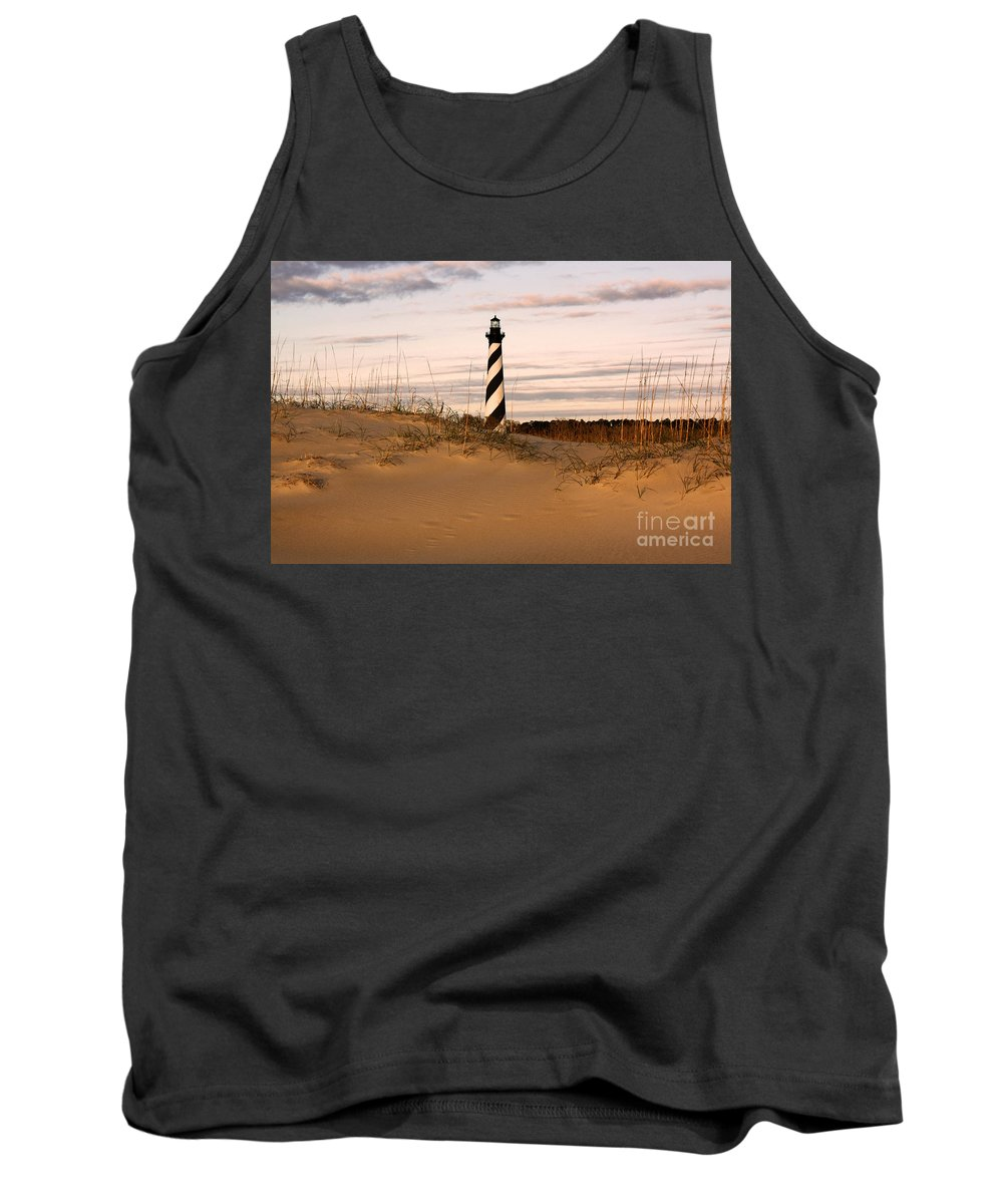Lighthouse Tank Top featuring the photograph Cape Hatteras Lighthouse by Tony Cooper