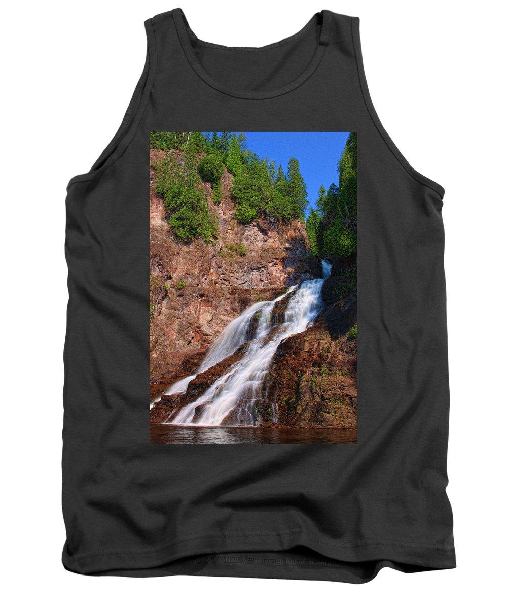 Falls Tank Top featuring the photograph Caribou Falls by Shari Jardina