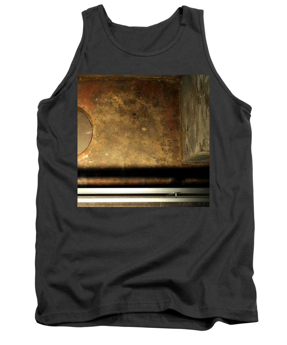 Manhole Tank Top featuring the photograph Carlton 13 - Abstract From The Bridge by Tim Nyberg