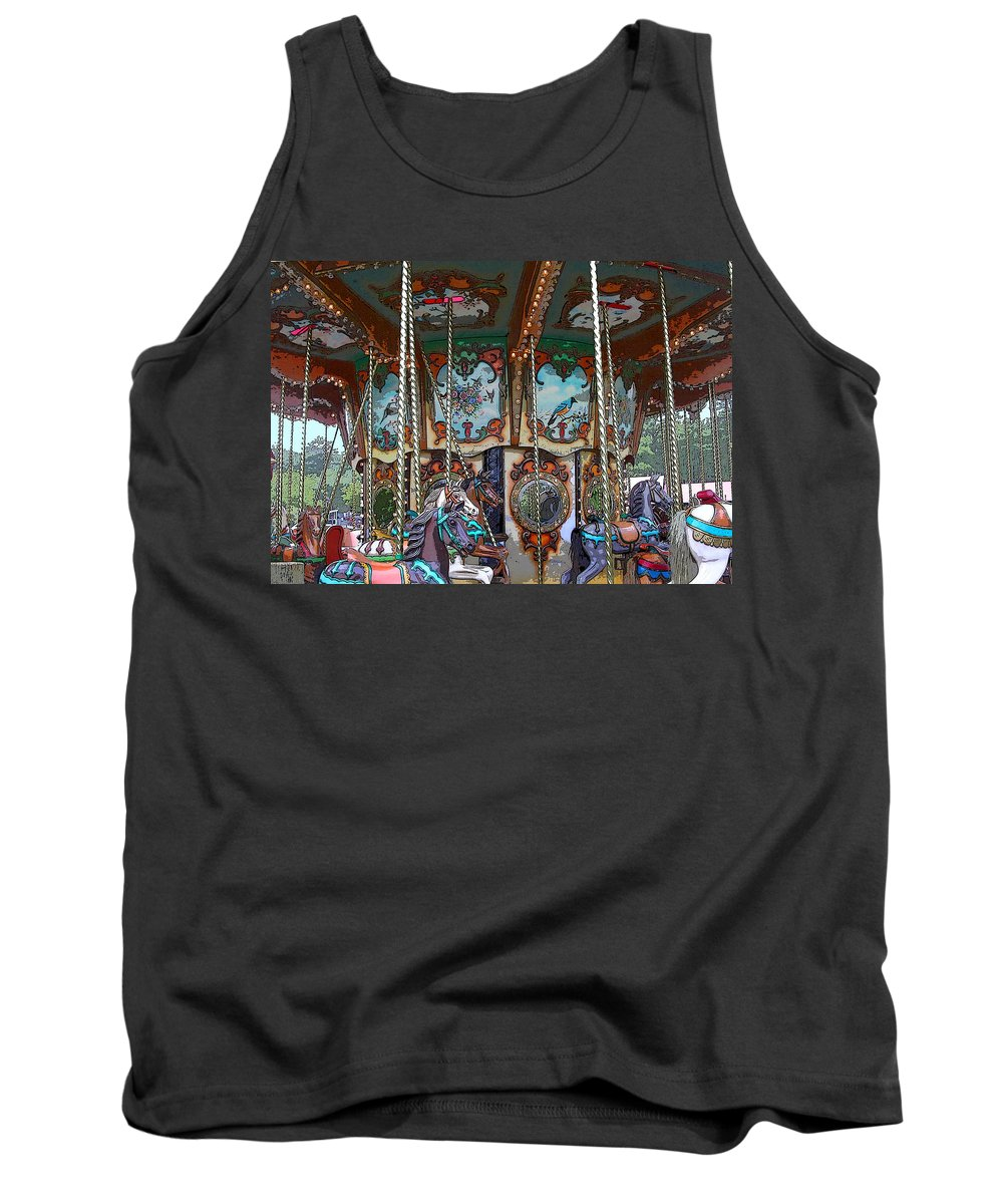 Carousel Tank Top featuring the photograph Carousel 2 by Anne Cameron Cutri