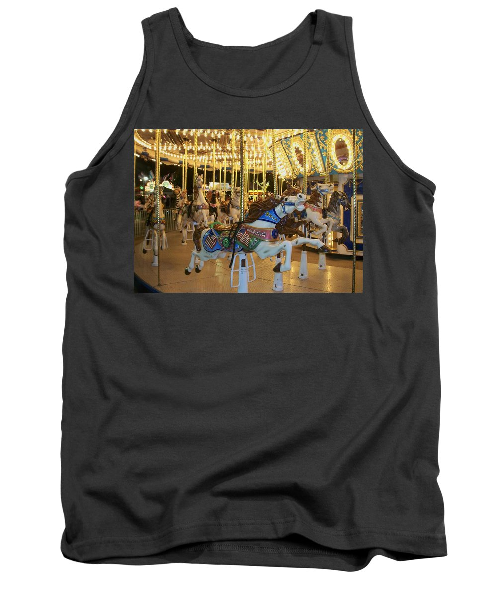 Carousel Horse Tank Top featuring the photograph Carousel Horse 3 by Anita Burgermeister
