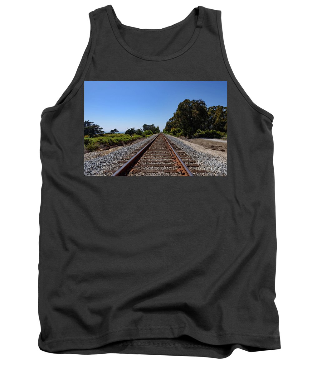 Central Coast May 2018 Tank Top featuring the photograph Carpinteria Bluffs by Jeffrey Hubbard