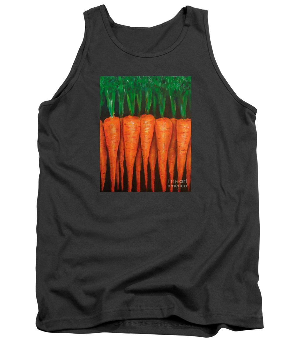 Carrots Tank Top featuring the painting Carrots by Cami Lee