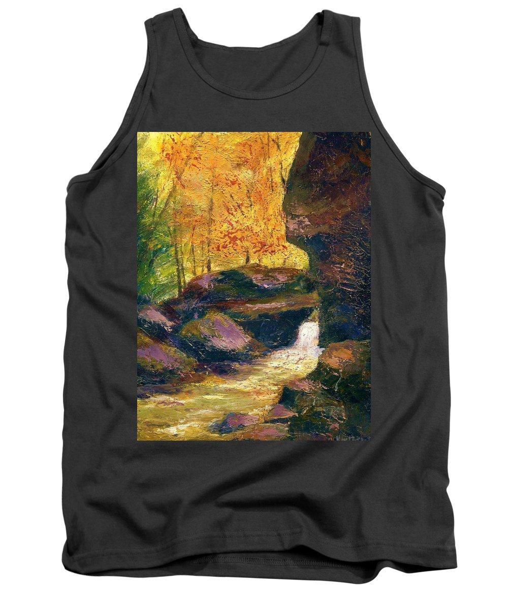 Kentucky Tank Top featuring the painting Carter Caves Kentucky by Gail Kirtz