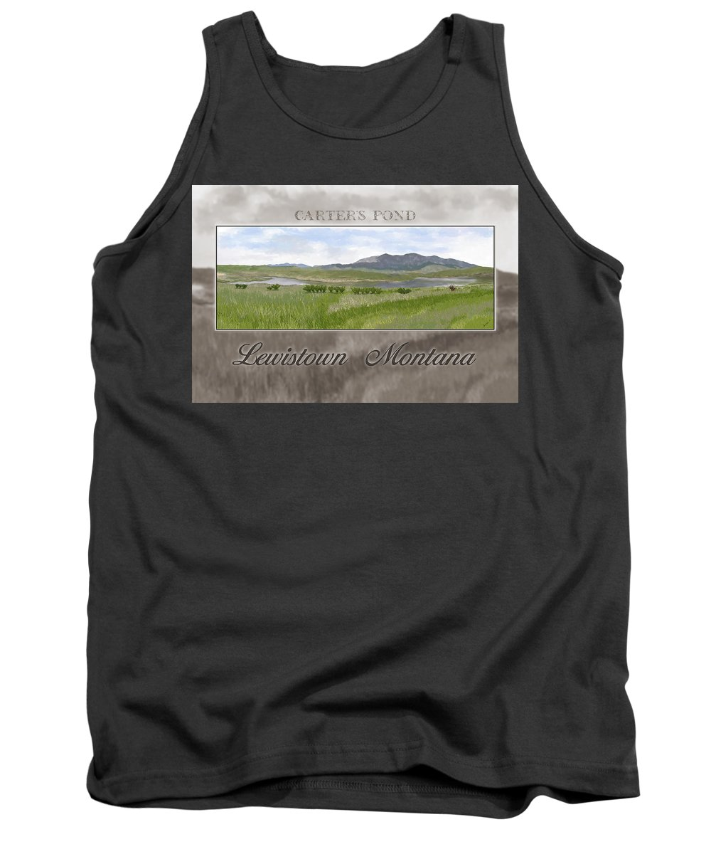Pond Tank Top featuring the digital art Carter's Pond by Susan Kinney