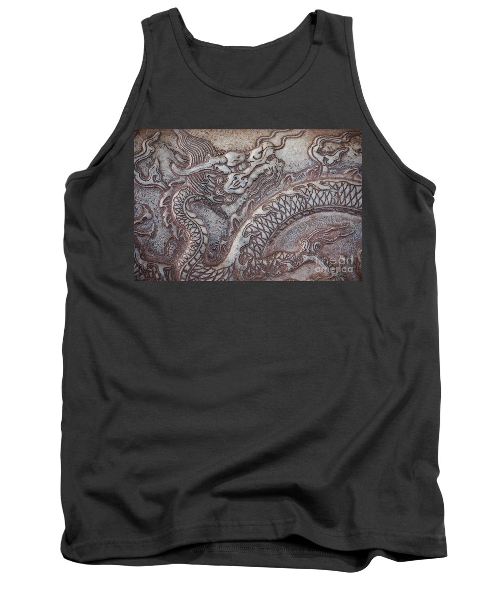 Chinese Dragon Tank Top featuring the photograph Carved Dragon by Carol Groenen