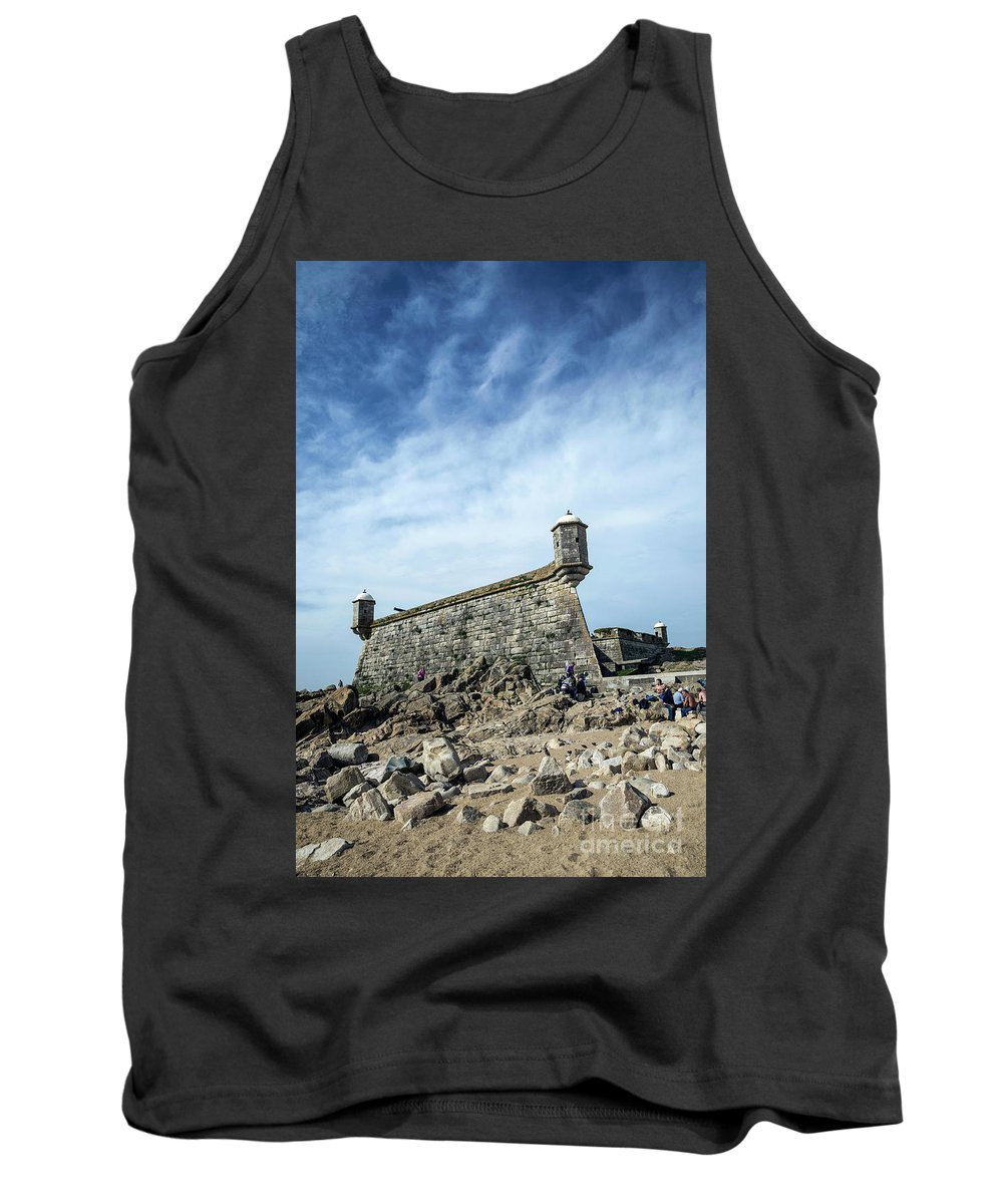 Attraction Tank Top featuring the photograph Castelo Do Queijo Old Fort Landmark In Porto Portugal by Jacek Malipan