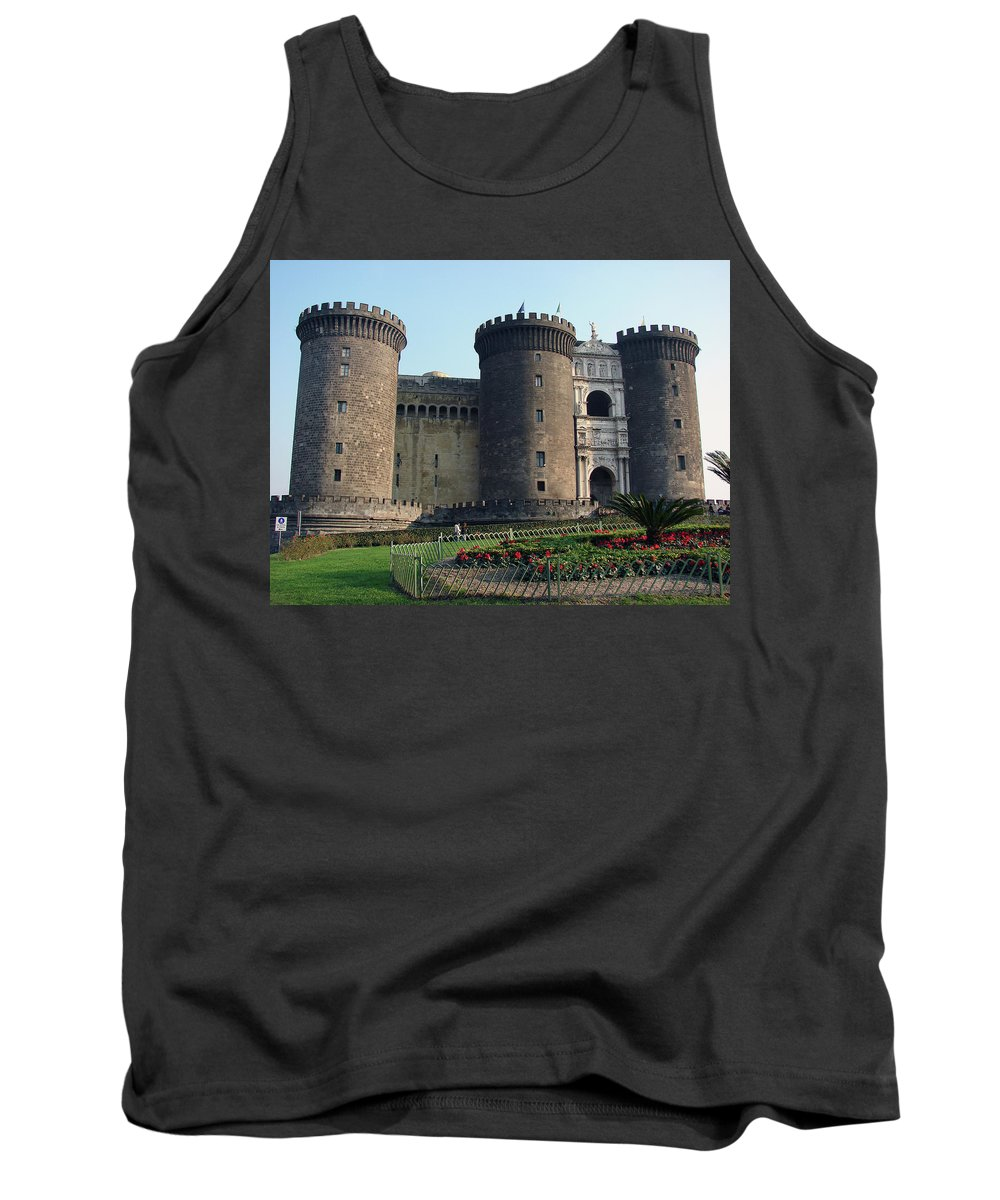 Castle Nuovo Tank Top featuring the photograph Castle Nuovo Naples Italy by Brett Winn
