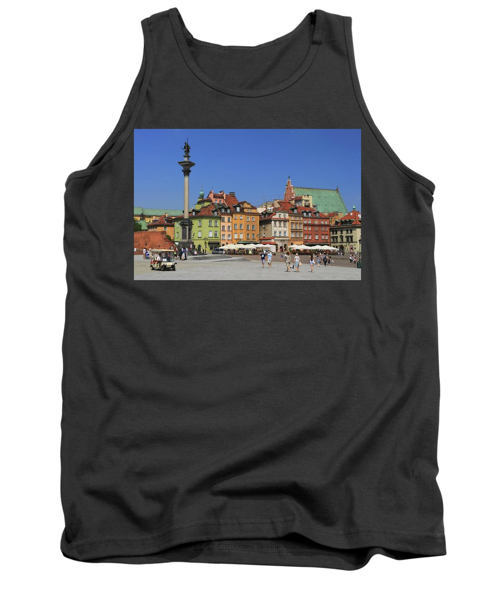 Architecture Tank Top featuring the photograph Castle Square And Sigismund's Column Warsaw Poland by Ivan Pendjakov
