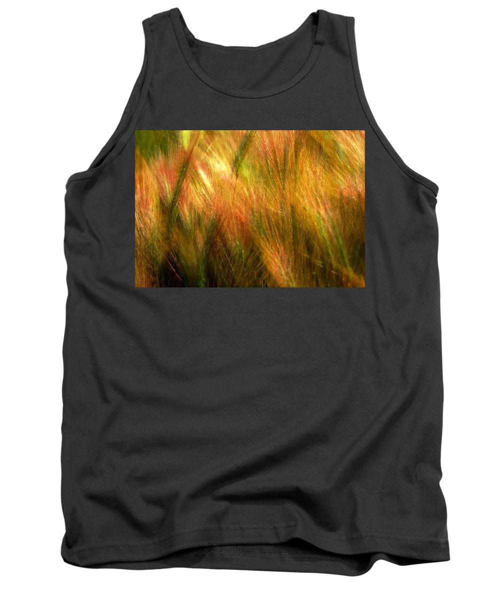 Abstract Tank Top featuring the photograph Cat Tails by Paul Wear