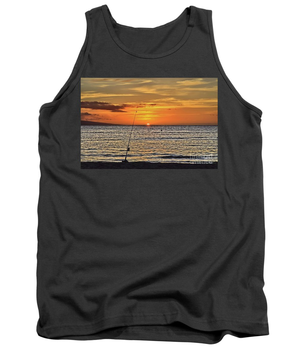 Sunset Tank Top featuring the photograph Catch Of The Day by DJ Florek
