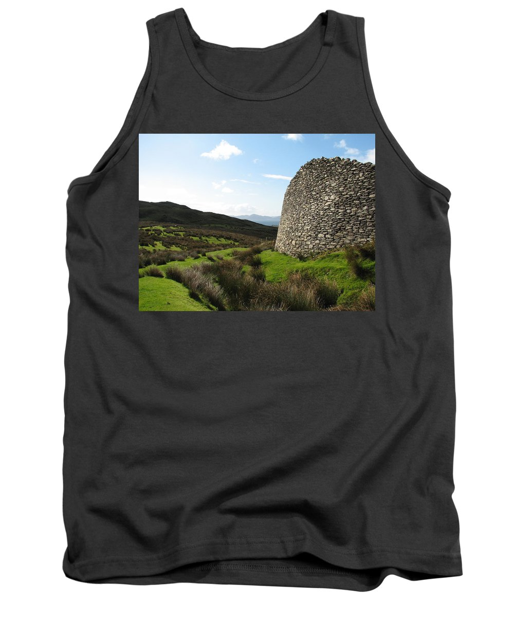 Fort Tank Top featuring the photograph Cathair Na Steige by Kelly Mezzapelle