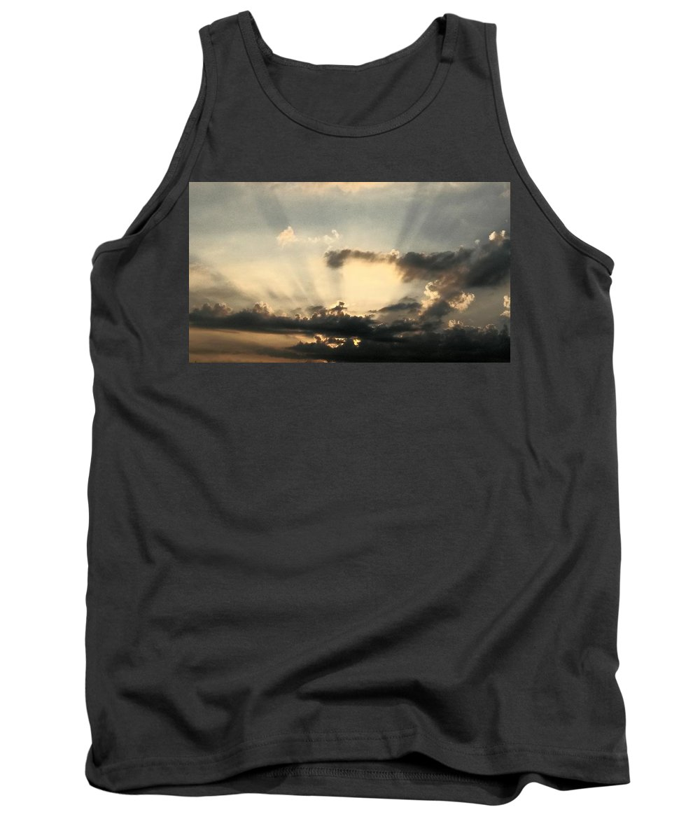 Caught At Sunrise Tank Top featuring the photograph Caught At Sunrise by Maria Urso