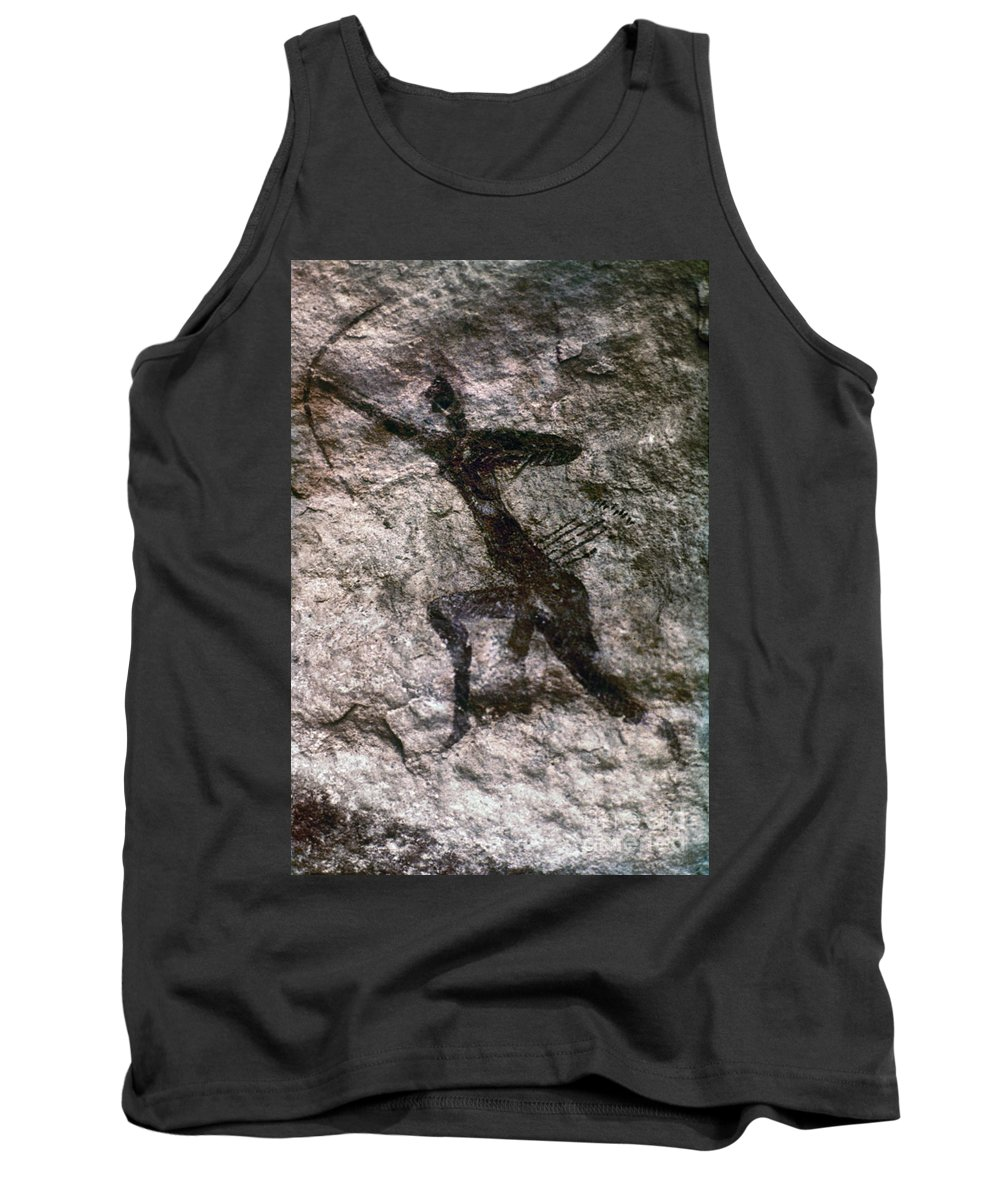 African Tank Top featuring the photograph Cave Art, Algeria by Granger