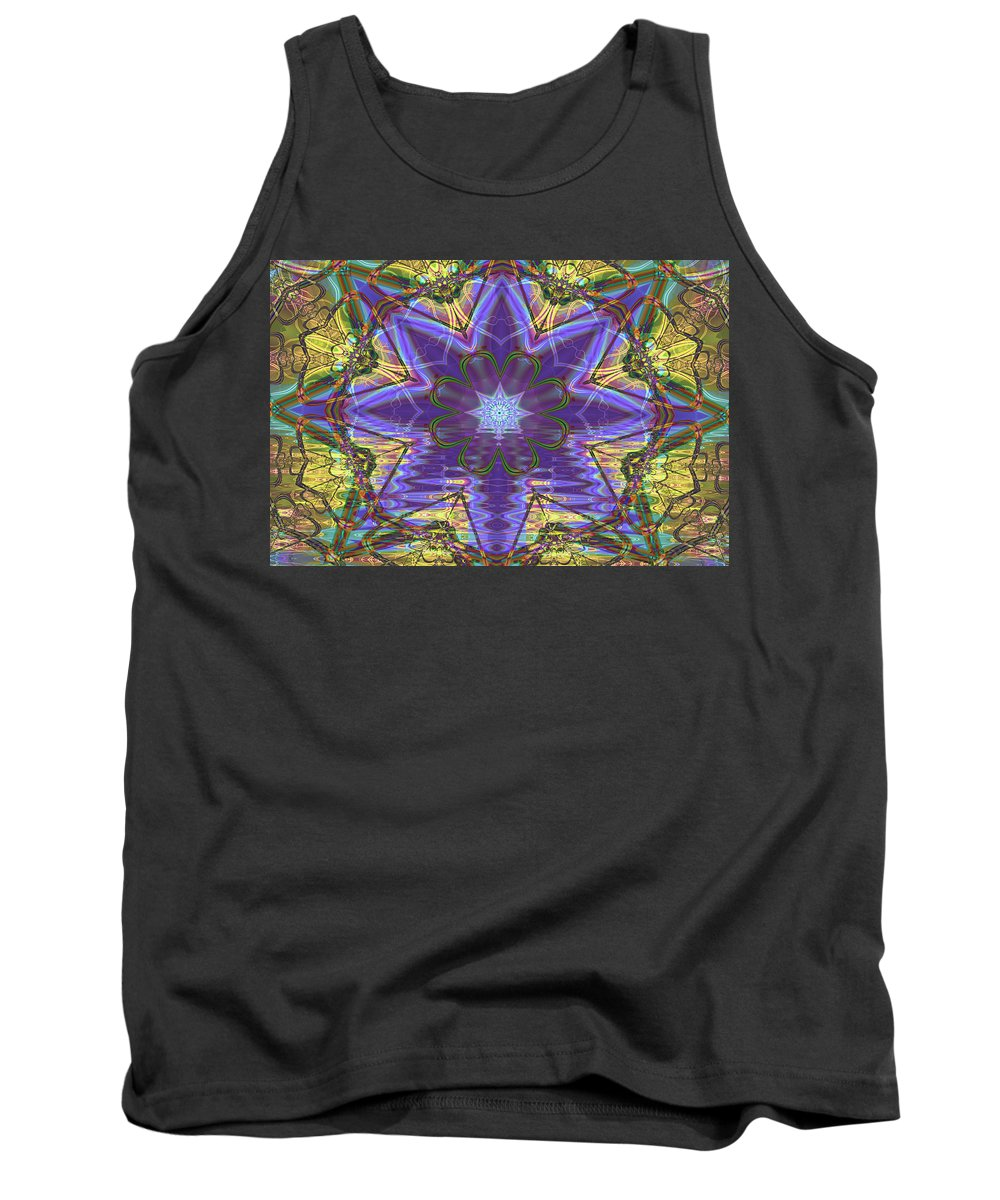 Abstract Tank Top featuring the digital art Celtic Knot by Frederic Durville