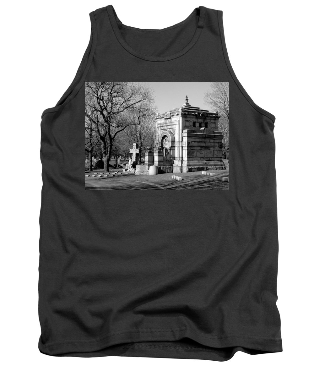 Cemetery Tank Top featuring the photograph Cemetery 8 by Anita Burgermeister