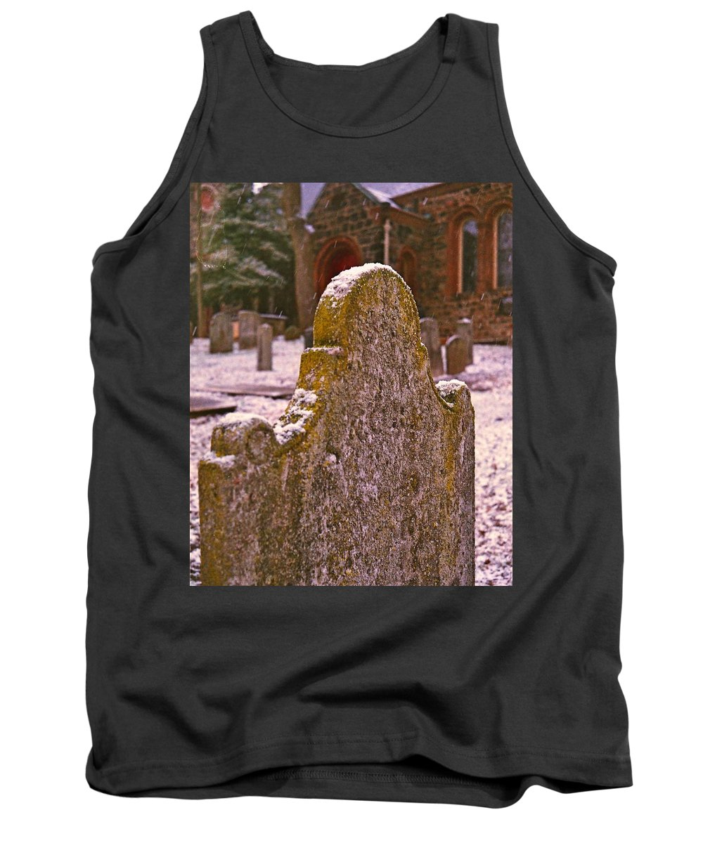 Cemetery Tank Top featuring the photograph Cemetery Headstone by Carmine Taverna