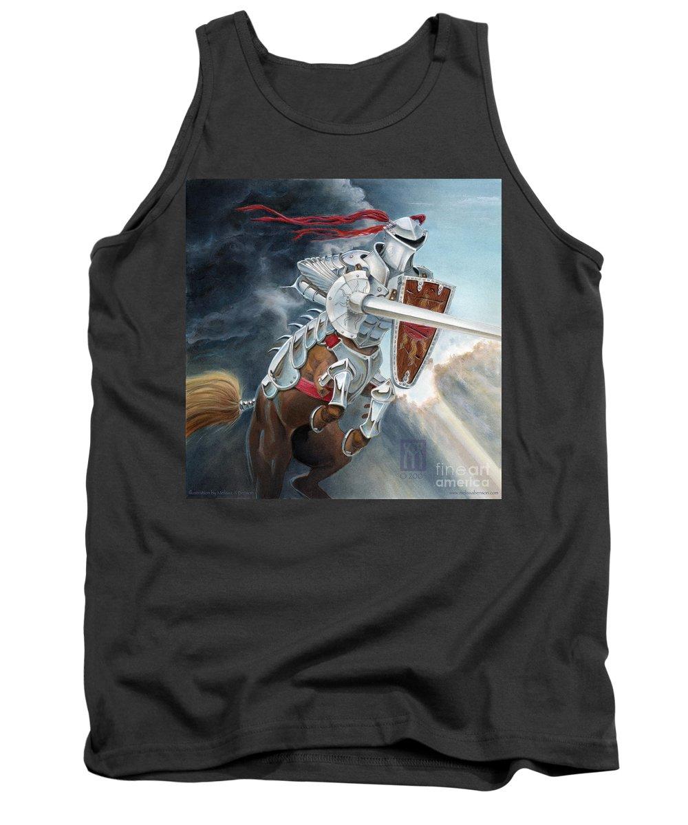 Centaur Tank Top featuring the painting Centaur Joust by Melissa A Benson