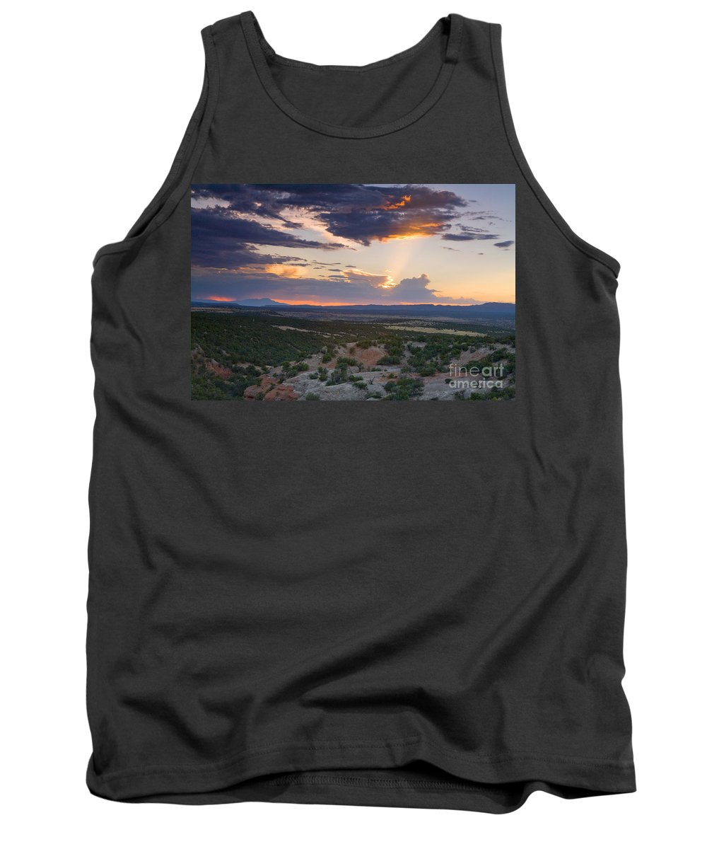 Landscape. Sunset Tank Top featuring the photograph Central New Mexico Sunset by Matt Suess