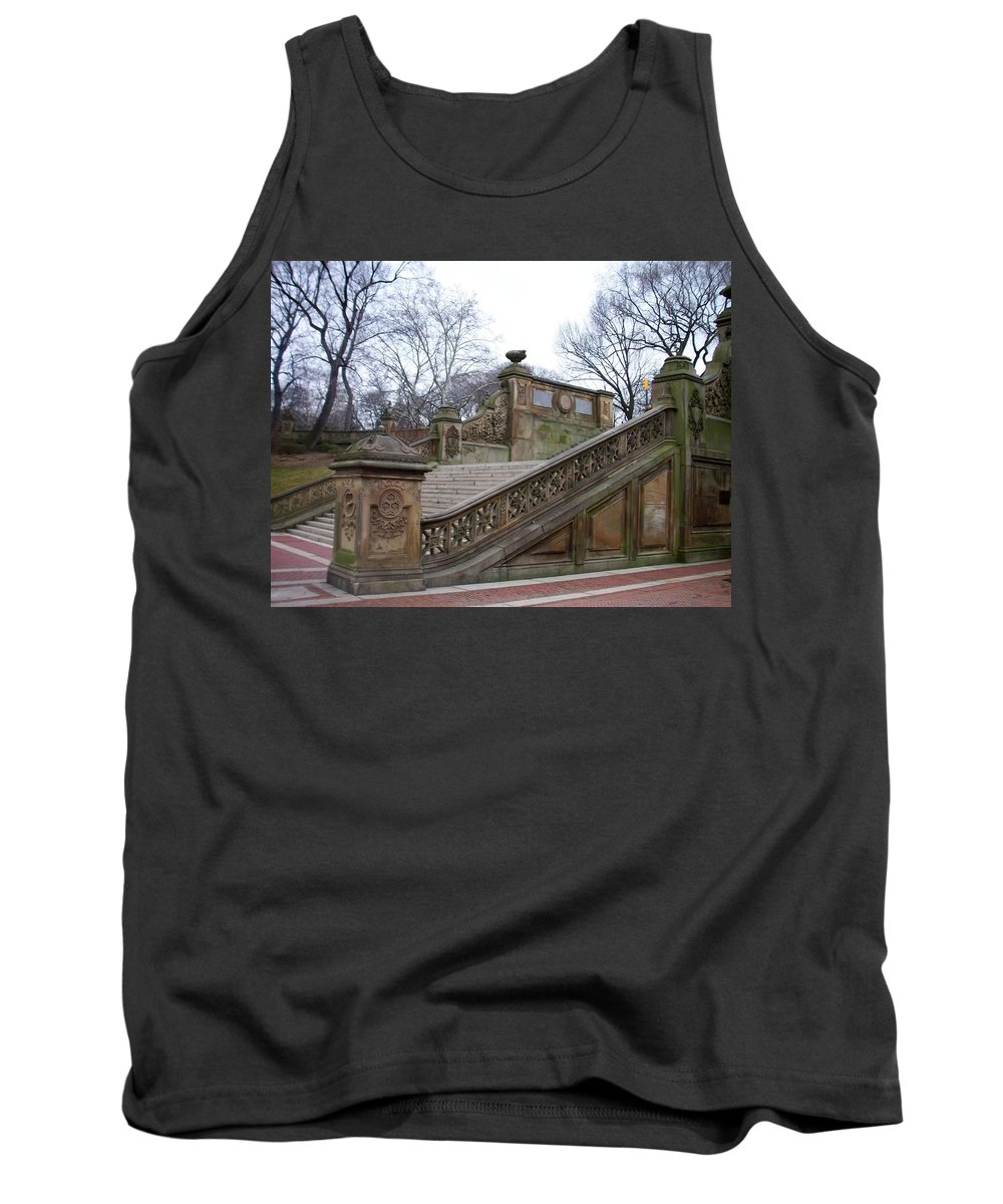 Central Park Tank Top featuring the photograph Central Park Bethesda 1 by Anita Burgermeister