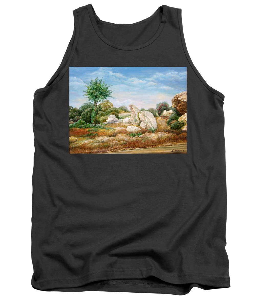 Painting Trees And Shrubs Tank Top featuring the painting Centuries-old Guard ... by Maya Bukhina