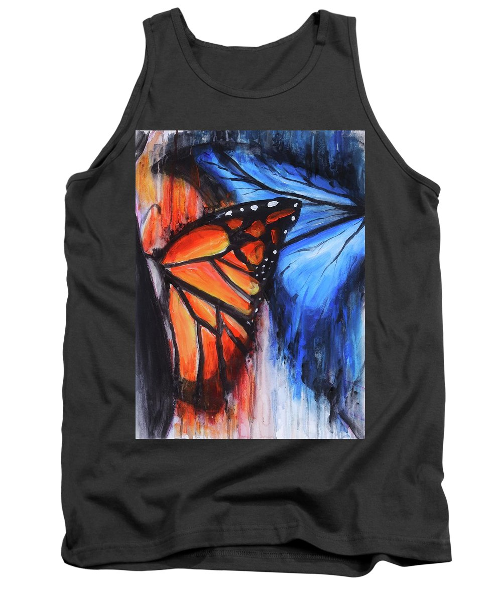 Butterfly Tank Top featuring the painting Change by Kelly Margo