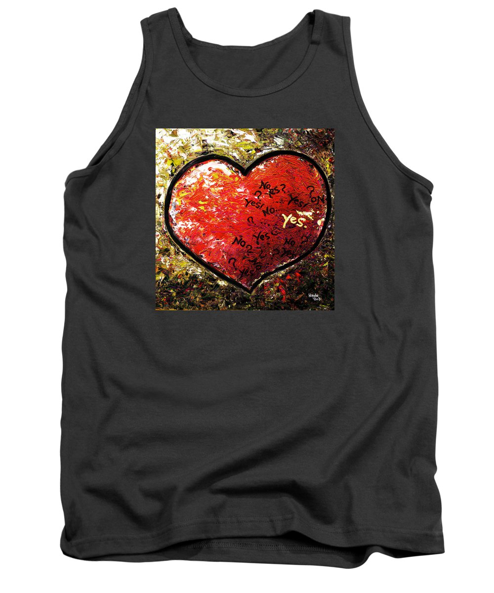 Pop Tank Top featuring the painting Chaos In Heart by Hiroko Sakai