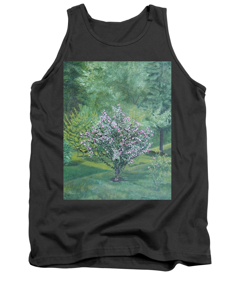 Blooming Tank Top featuring the painting Charles Street by Leah Tomaino