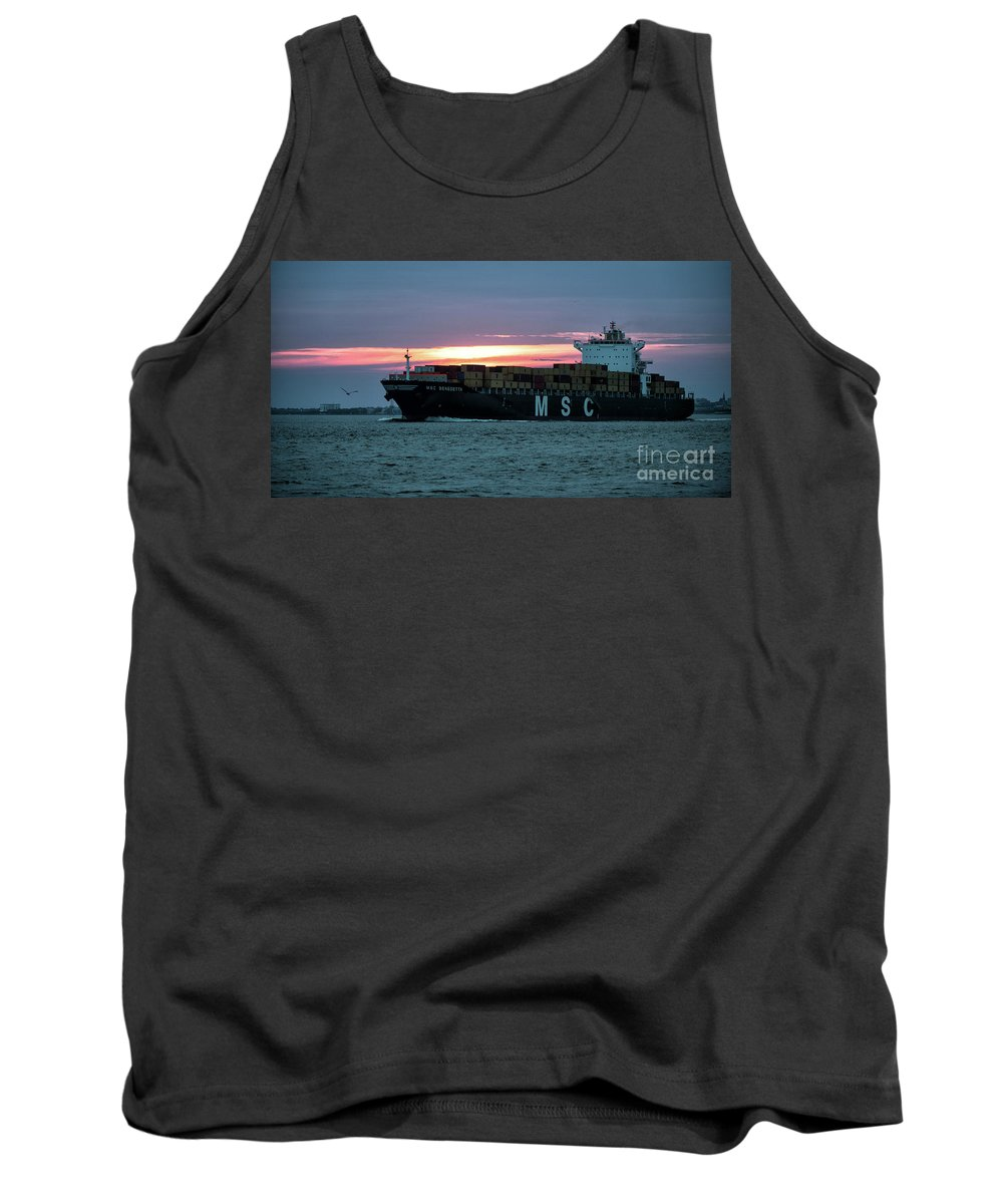 Msc Tank Top featuring the photograph Charleston Port by Dale Powell