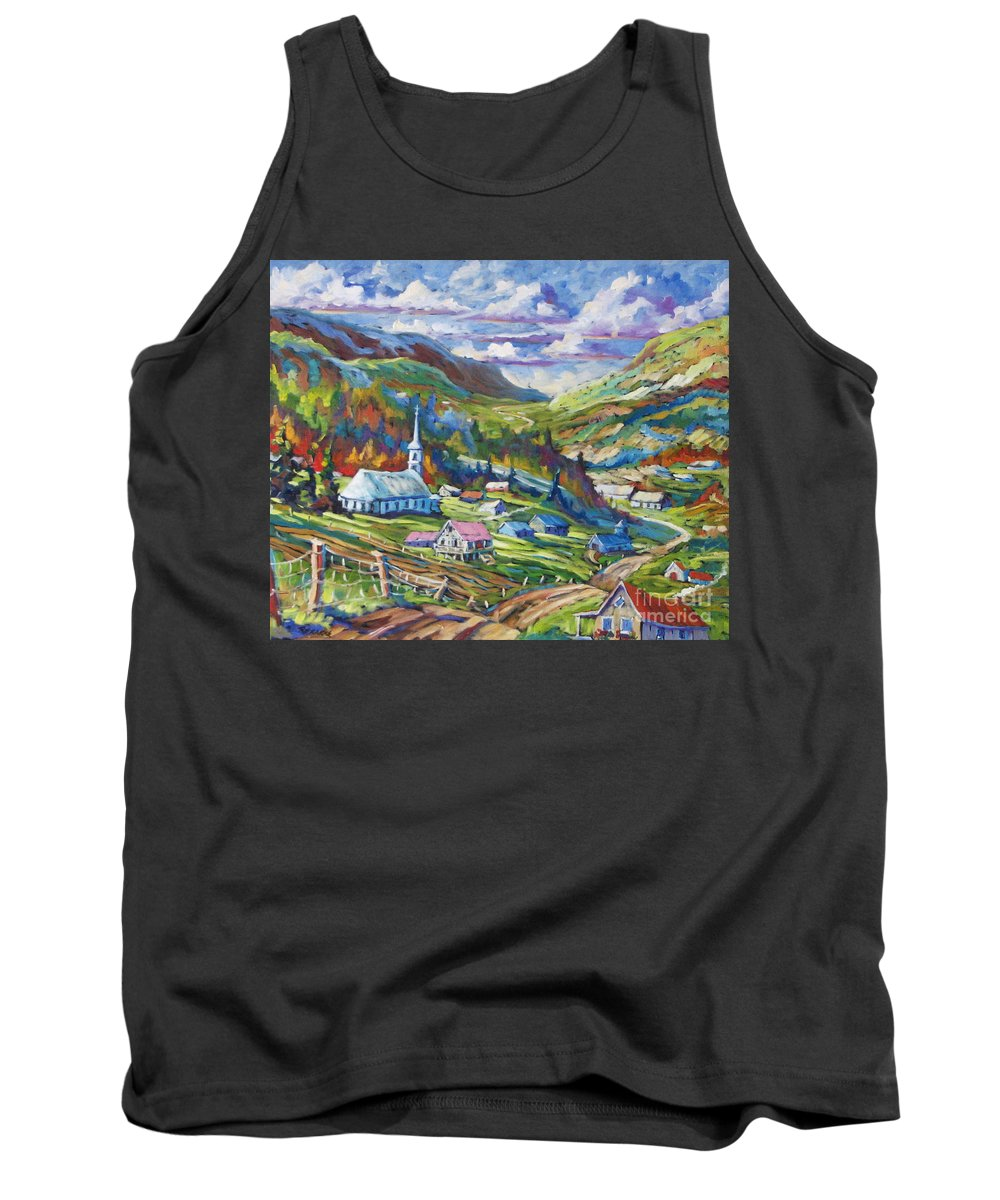Charlevoix Tank Top featuring the painting Charlevoix Inspiration by Richard T Pranke
