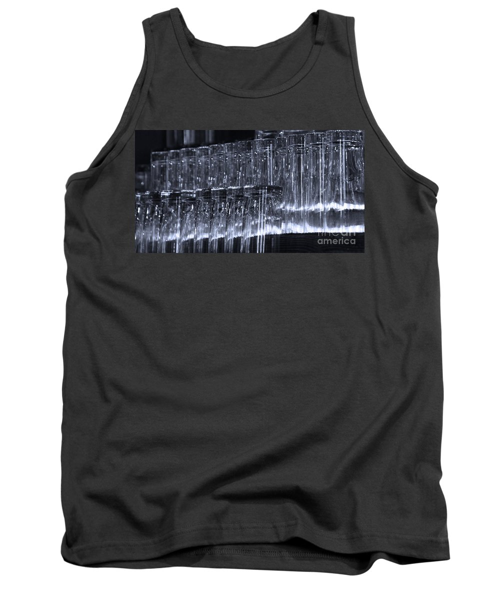 Tombstone Tank Top featuring the photograph Chasing Waterfalls - Blue by Linda Shafer