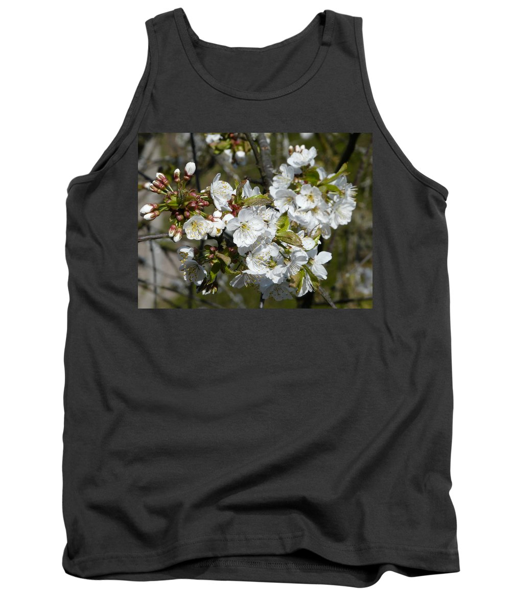 Cherry Tank Top featuring the photograph Cherry Blossom by Valerie Ornstein