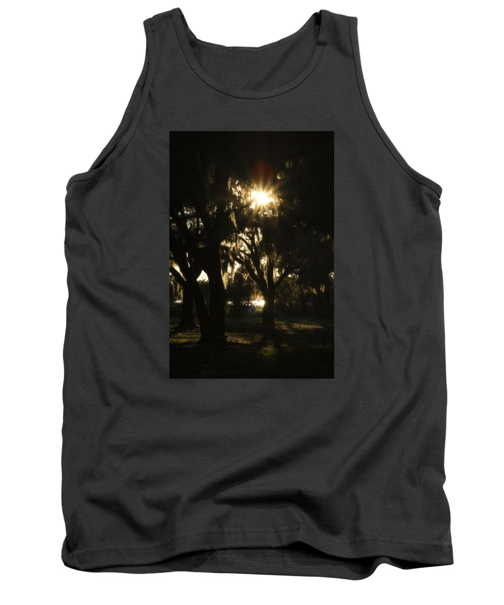Sunset Tank Top featuring the photograph Cherry Point Trees by CottonWood