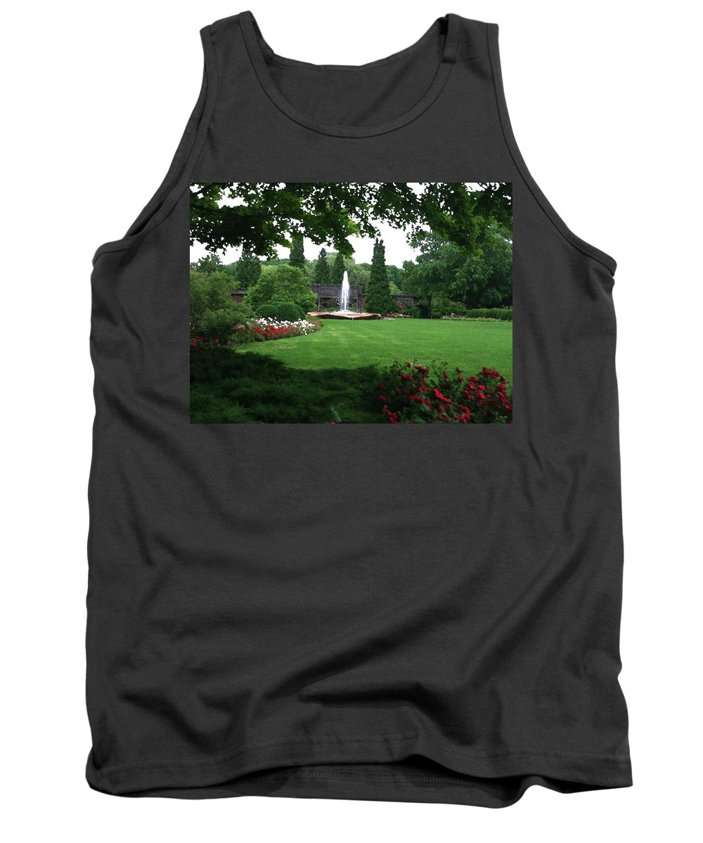 Landscape Tank Top featuring the photograph Chicago Botanical Gardens Landscape by Steve Karol