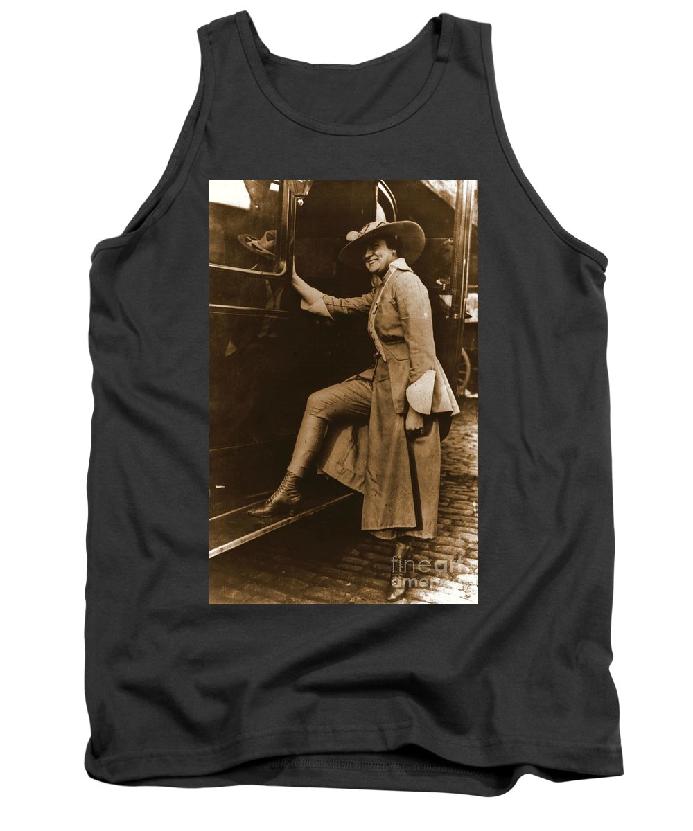 Chicago Suffragette Marching Costume Tank Top featuring the photograph Chicago Suffragette Marching Costume by Padre Art