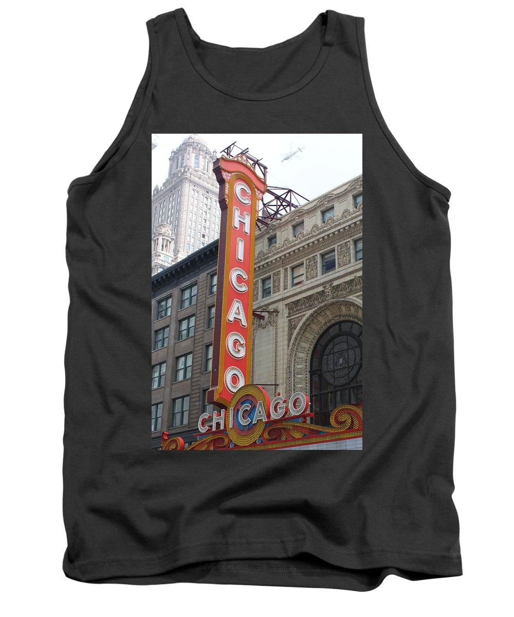 Chicago Tank Top featuring the photograph Chicago Theater Sign by Lauri Novak