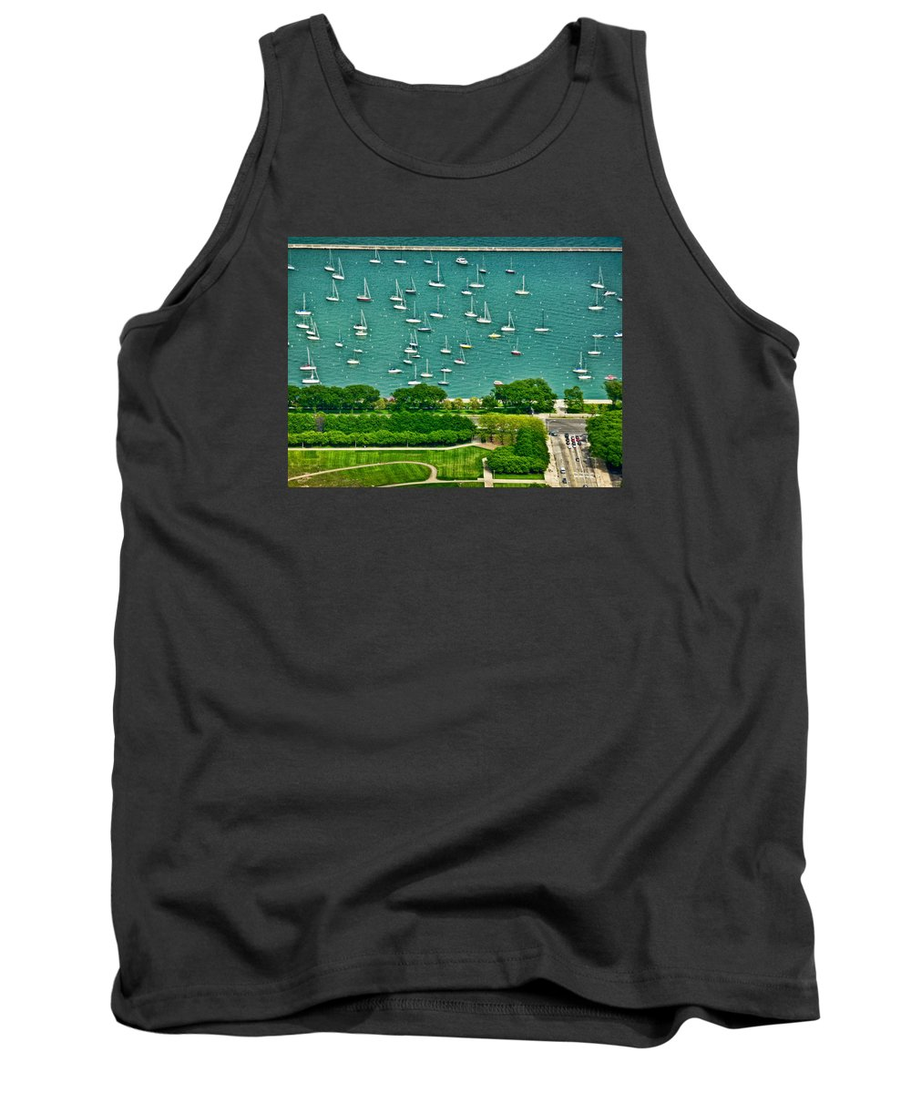 Chicago Tank Top featuring the photograph Chicago's Dusable Harbor by Ginger Wakem