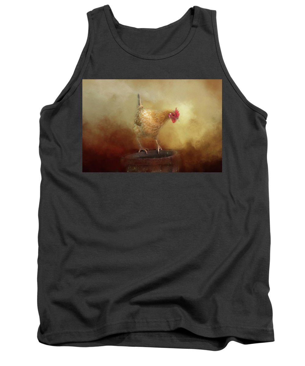 Chicken Tank Top featuring the photograph Chicken by Michele Wright